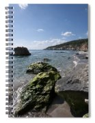 Binigaus Beach In South Coast Of Minorca Island Europe - Paradise Is Not Far Away Spiral Notebook