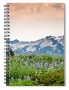 Paradise Meadows And The Tatoosh Range Spiral Notebook