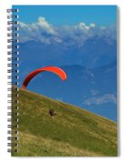 Paragliding In The Mountains Spiral Notebook