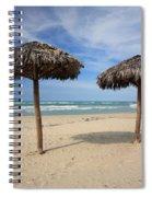 Parasols On Varadero Beach Spiral Notebook