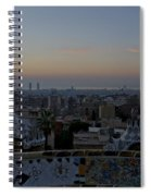 Parc Guell At Sunrise Spiral Notebook