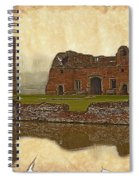 Parchment Texture Kirby Muxloe Castle Spiral Notebook