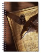 Parchment With Ink And Quill Pen Spiral Notebook