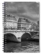 Paris Black And White Spiral Notebook