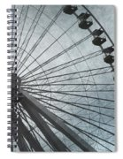 Paris Blue Ferris Wheel Spiral Notebook