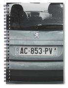Paris Blue Peugeot Spiral Notebook