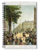 Paris Boulevard, 1859 Spiral Notebook