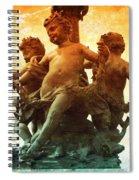 Paris Cherubs Spiral Notebook