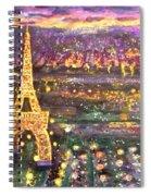 Paris City Of Lights Spiral Notebook