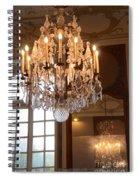 Paris Crystal Chandelier - Paris Rodin Museum Chandelier - Sparkling Crystal Chandelier Reflection Spiral Notebook