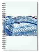 Paris Design In Blue Spiral Notebook