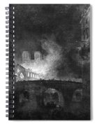 Paris, France Fire, 1773 Spiral Notebook