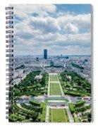 Paris From Above Spiral Notebook