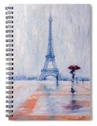 Paris In Rain Spiral Notebook