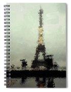Paris In The Rain Spiral Notebook