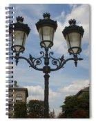 Paris Lamp Post Spiral Notebook