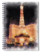 Paris Las Vegas Photo Art Spiral Notebook