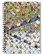 Paris - Locks Of Love Spiral Notebook