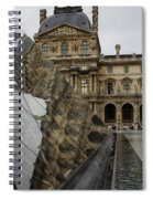 Paris - Louvre Reflecting In The Pyramid  Spiral Notebook