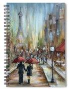 Paris Lovers Ill Spiral Notebook