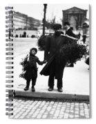 Paris Mistletoe, C1900 Spiral Notebook