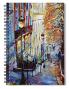 Paris Monmartr Steps Spiral Notebook