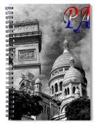 Paris Montage 2 Spiral Notebook
