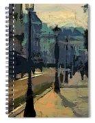 Paris  Morning Spiral Notebook