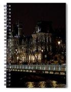 Paris Night Along The Seine Spiral Notebook