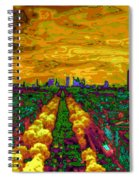 Paris Skyline Pop Art Spiral Notebook