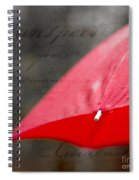 Paris Spring Rains Spiral Notebook