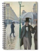 Paris Street In Rainy Weather Spiral Notebook