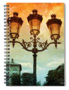 Paris Street Lamps With Textures And Colors Spiral Notebook