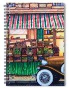 Paris Street Market Spiral Notebook