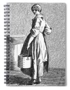 Paris Walnut Vendor, C1740 Spiral Notebook