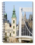 Parish Church And Elizabeth Bridge In Budapest Spiral Notebook