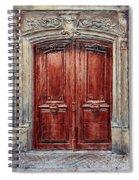 Parisian Door No. 8 Spiral Notebook