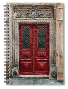 Parisian Door No.82 Spiral Notebook