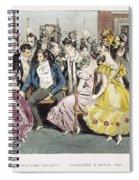 Parisian Salon, 1825 Spiral Notebook