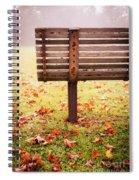 Park Bench In Autumn Spiral Notebook