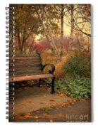 Park Bench In Autumn Spiral Notebook
