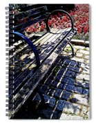 Park Bench With Flowers Spiral Notebook