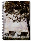 Park Benches Square Spiral Notebook