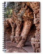 Park Guell Colonnade No1 Unframed Spiral Notebook