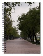 Park Leading To The King Of Thailands Palace Spiral Notebook