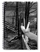 Park Trail Bw Spiral Notebook