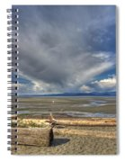Parksville Beach - Low Tide Spiral Notebook