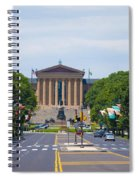 Parkway View Of The Museum Of Art Spiral Notebook