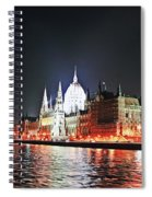 Parliament And The Danube Spiral Notebook