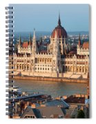 Parliament Building In Budapest At Sunset Spiral Notebook